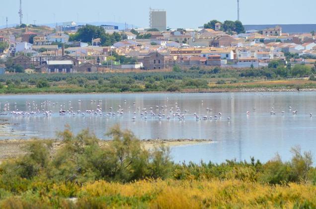 La Laguna, el pueblo al fondo